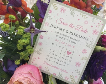 SAVE THE DATE - Pretty Florals - Spring | summer save the dates cards - Sample