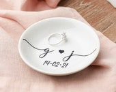 Engagement ring dish engagement gift personalised ring dish engagement gift for couple ring holder gift bridal shower gift jewellery dish