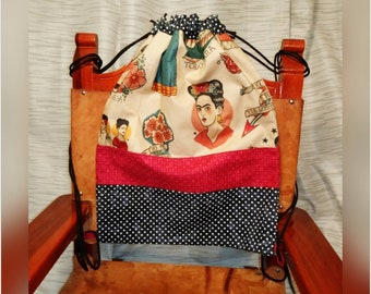 Frida Drawstring Backpack