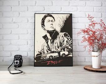 Drive Ryan Gosling A1 Print Including Frame