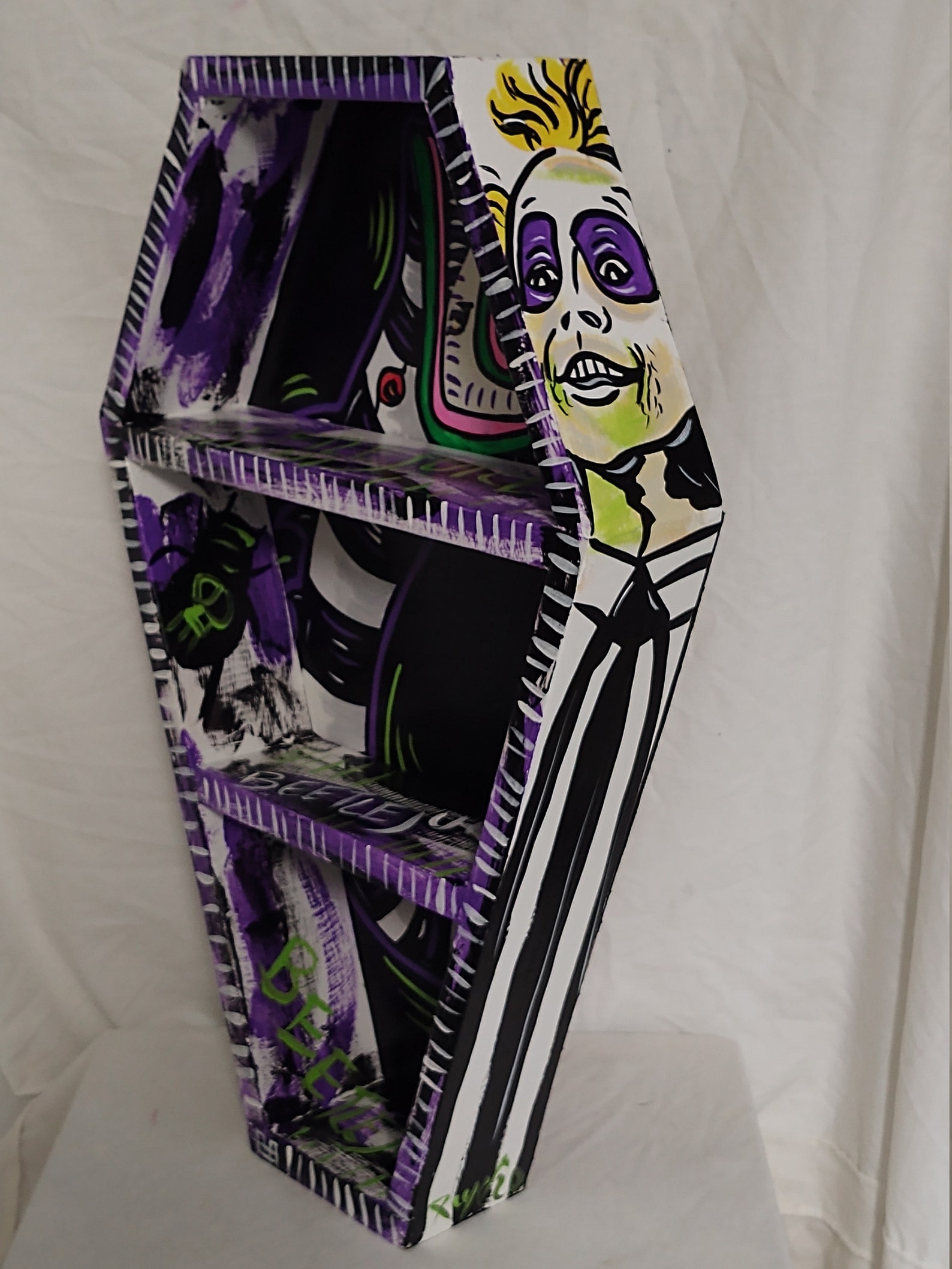 Beetlejuice Coffin Tabletop and Wall Shelves by Blackened Art Design