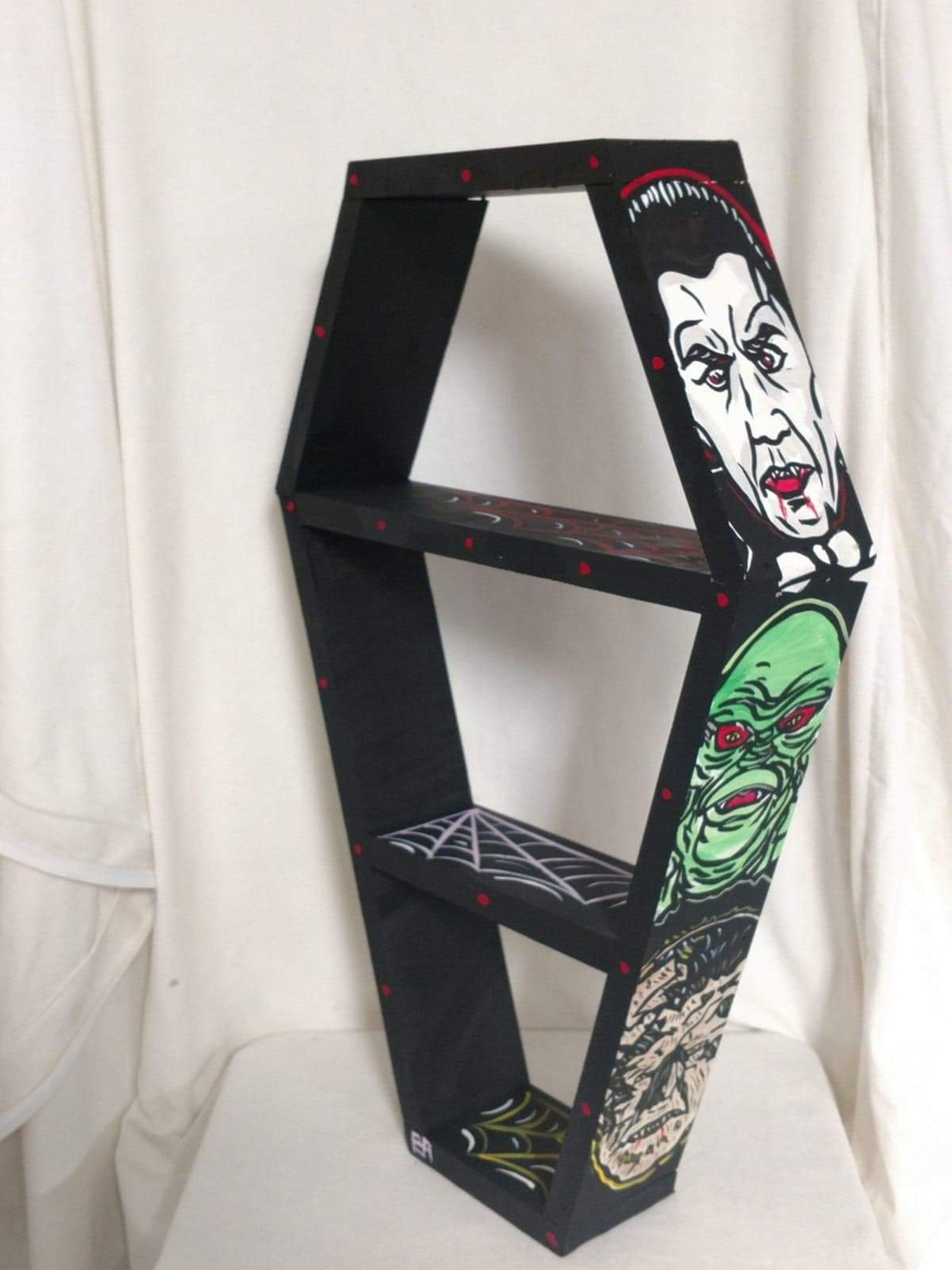 Classic Monsters Coffin Tabletop and Wall Shelves by Blackened Art Design