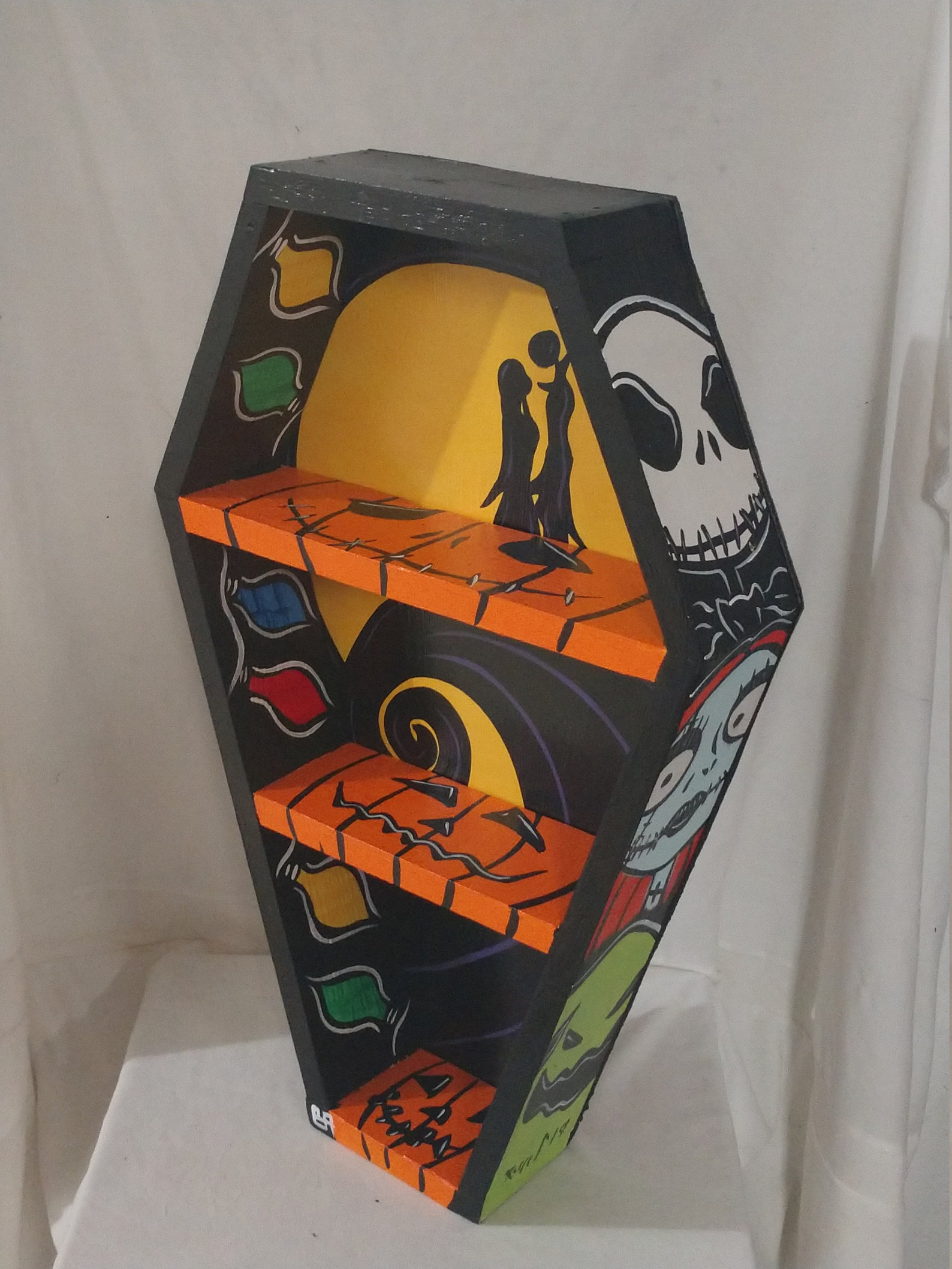 Nightmare Before Christmas Coffin Tabletop and Wall Shelves by Blackened Art Design