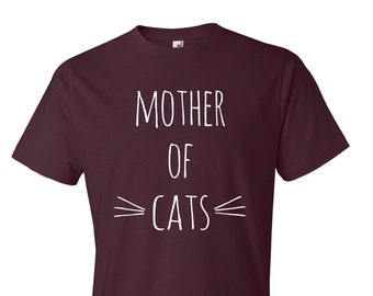 Cat Shirts. Mother of Cats T-Shirt. Gifts for cat lovers. Mother of Cats Shirt. Funny Cat Shirt. S-3XL.
