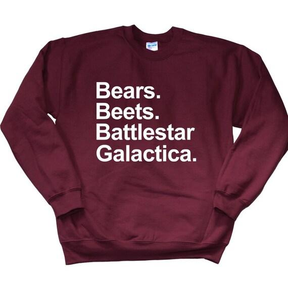 Bears Beets Battlestar Galactica Sweatshirt The Office Etsy