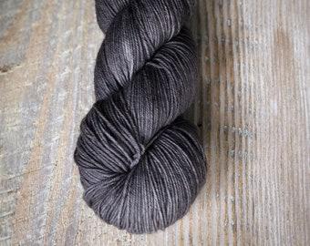 Charcoal - 85/15 Superwash Merino Wool /Nylon blend, sock yarn