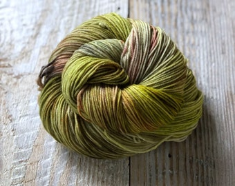 Green Man - 85/15 Superwash Merino Wool/Nylon blend, sock yarn
