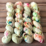 Birthday Cake - 85/15 Superwash Merino Wool/Nylon blend sock yarn mini skein