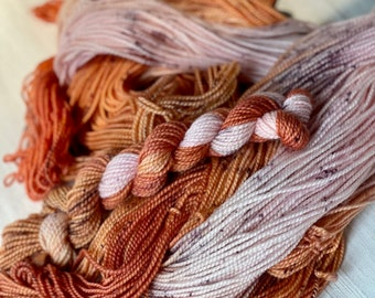 OOAK hand dyed sock yarn 80/20 merino/nylon blend