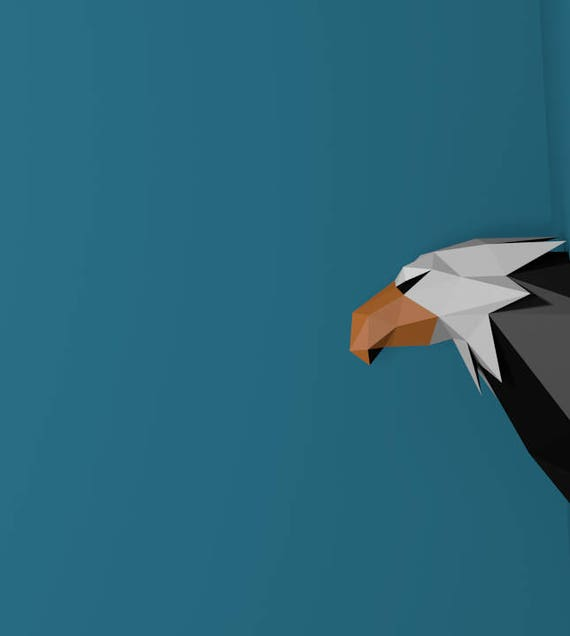 Papercraft Eagle Head, Paper Trophy, Paper Animal Head, Paper Craft DIY  Eagle Trophy, Eagle Trophy, DIY template