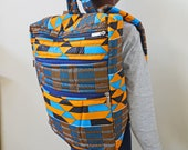 African Backpack, Kente Backpack, Ankara Backpack, Backpack, Patchwork Backpack, African bag,  Hand Sewn, African print bag, Ankara fashion