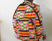 Kente Backpack, Ankara Backpack, African Backpack, Backpack, Patchwork Backpack, African bag,  Hand Sewn, African print bag, Ankara fashion
