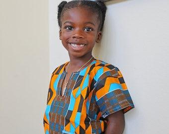 Boys Ankara Top, Dashiki, Kids Ankara Top, African Kids Outfit, African Clothes, Ankara Fashion, African Style