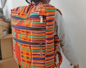 African Print Bag, Kente Backpack, Ankara Backpack, African Backpack, Backpack, Patchwork Backpack, African Bag,  Hand Sewn, Ankara Fashion