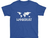 Wanderlust Kid Travel Shirt (size xs-xl)
