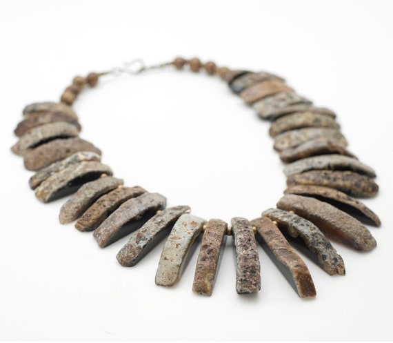 Queen Mother Jewelry - Raw Agate Necklace