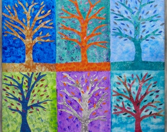 Nine Trees on Cool Colors