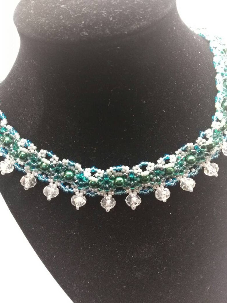 22 Inch Long Beaded Necklace free shipping.
