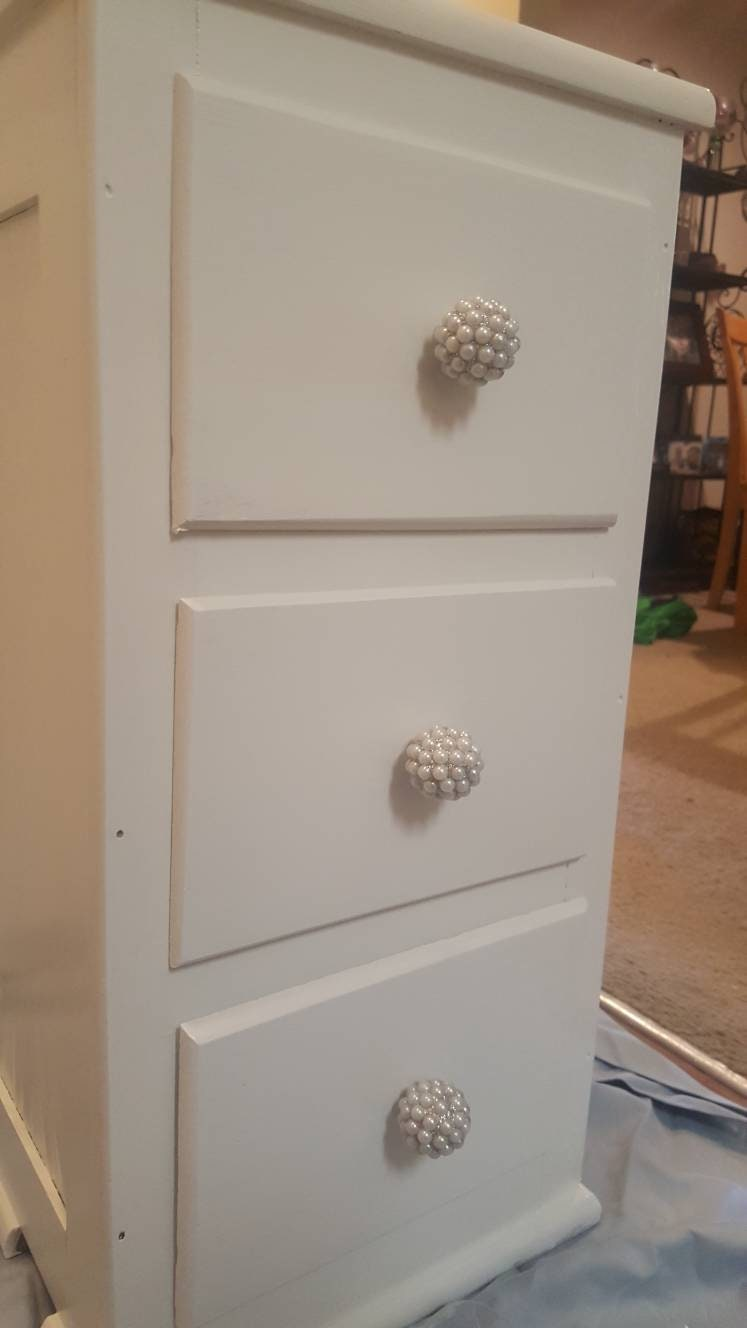 Shabby Chic White Side table/nightstand