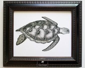 Sea Turtle Honu Fine Art Print (unframed)