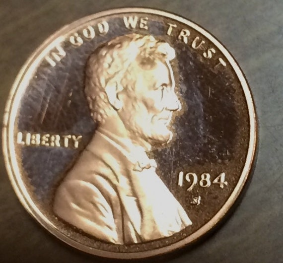 1984 S Proof Lincoln Memorial Cent