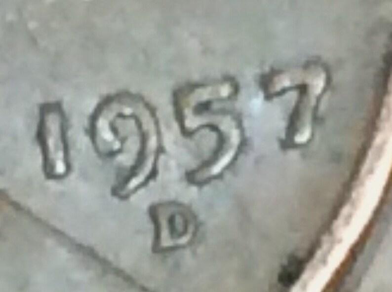 Free Shipping 1957 D ERROR Lincoln Wheatback Penny  #INVD377