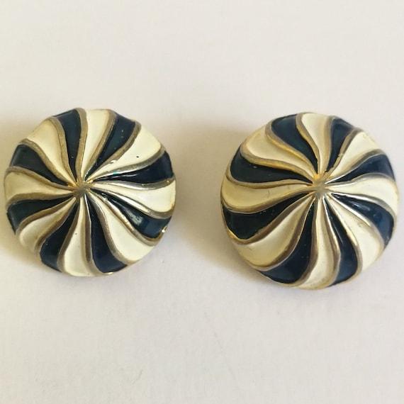 Valentino Garavani circular clip earrings, vintage