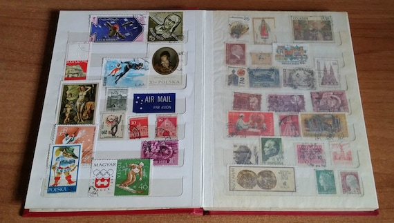 Lotto Collection 103 Stamps From Around The World With Binder Years 50 70 Vintage Philately Series Italy Yugoslavia Mexico 1968