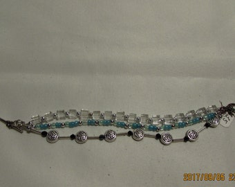 Turquoise Three Chains in One Bracelet