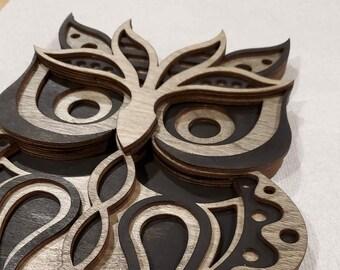 Owl Wall Art, Owl Mandala, Laser Cut Owl, Owl Home Decor, Home Decor, Owl Decor, Office Decor