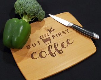 Compact Bamboo, Laser Engraved Cutting Board, Chopping Board