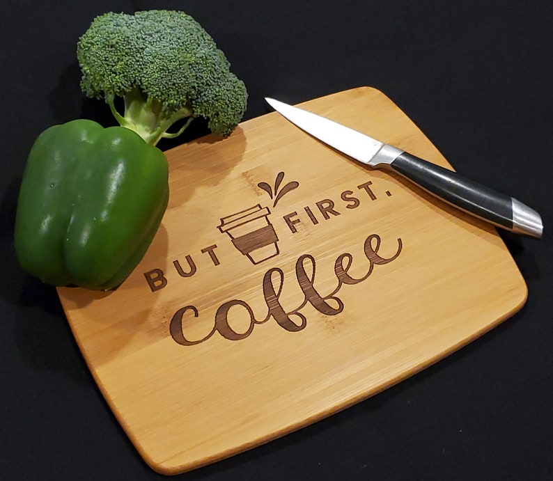 Compact Bamboo Laser Engraved Cutting Board Chopping Board image 0