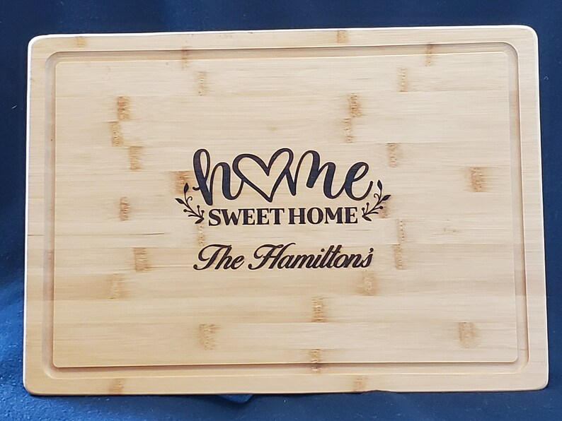 Personalized Home Sweet Home Bamboo Cutting image 0
