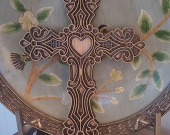 Wooden Layered Cross, Laser Cut Cross. Home Decor, Sacred Geometry Layered Cross, Cross