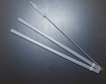 Tumbler Replacement Straws and Cleaner, 30 oz. Tumbler replacement straw, Set of 2, Straw Cleaner & Hard Plastic Clear Straws, Skinny Straws