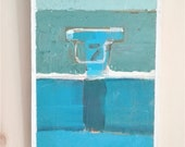 Painted from real on wood, series_bathers n 10 (bhater painting).