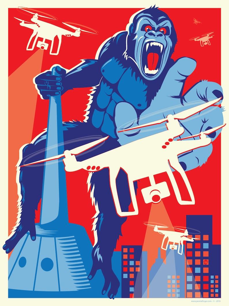 Kong vs Drone image 0