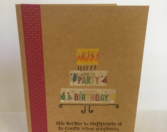 Count Your Blessings Birthday Card
