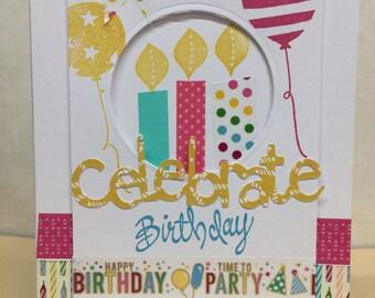 Birthday Celebrate Washi card