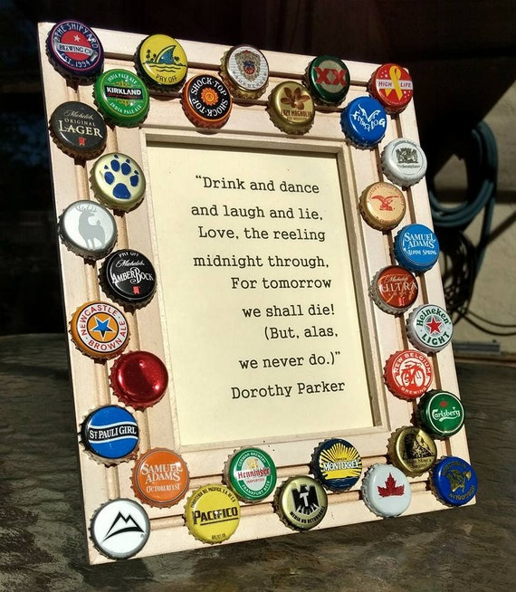 CHEERS Beer Bottle Cap Picture Frame 5X7 Photo with | Etsy