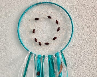 Handmade Teal Blue Dreamcatcher