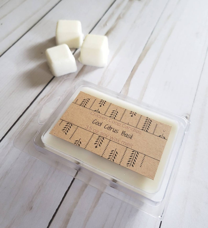Spring Wax Melts Cool Citrus Basil Scented Soy Wax Melt Herb Scented Wax Melts