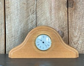Mantle Tabletop Oak Clock - Hand Made - Wood Creations