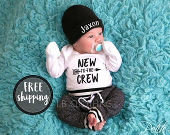 baby boy coming home outfit, personalized baby boy, newborn boy outfit, personalized baby boy outfits, baby boy hat with name