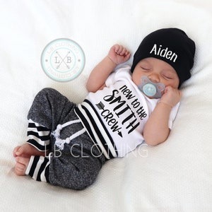 BABY BOY Coming Home Outfit expecting mom new mom baby hat baby boy baby boy gift baby shower gift personalized baby boy clothes