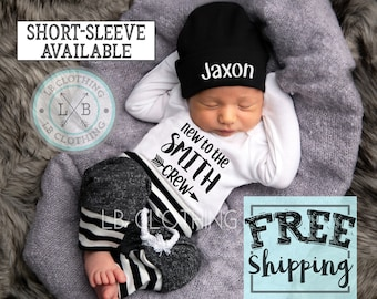 newborn boy coming home outfit