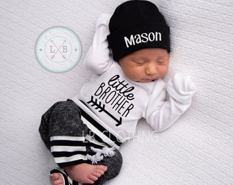 3af2f4314a533 Newborn Boy Coming Home Outfit Baby Boy Take Home Outfit Newborn Outfit  Newborn Baby Outfit New to the Crew Outfit Baby Boy