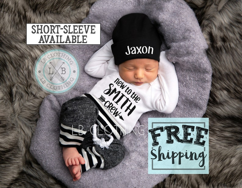 Baby Boy Coming Home Outfit Newborn Boy Coming Home Outfit Baby Boy Clothes Personalized Newborn Outfit Baby Boy Outfits Newborn Boy