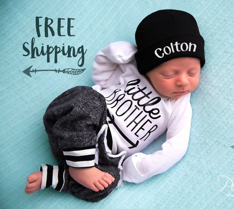 22680060c17 LITTLE BROTHER outfit Baby Boy Coming Home Outfit