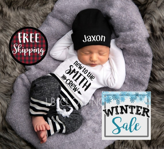 0f5951d680e BABY BOY Coming Home Outfit baby boy personalized baby boy